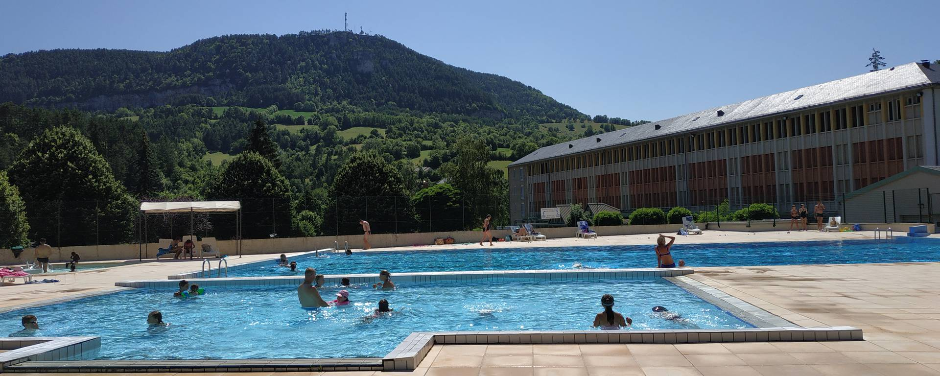 La Canourgue's swimming pool