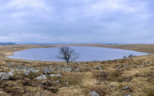 Un lac sur le plateau de l'Aubrac.