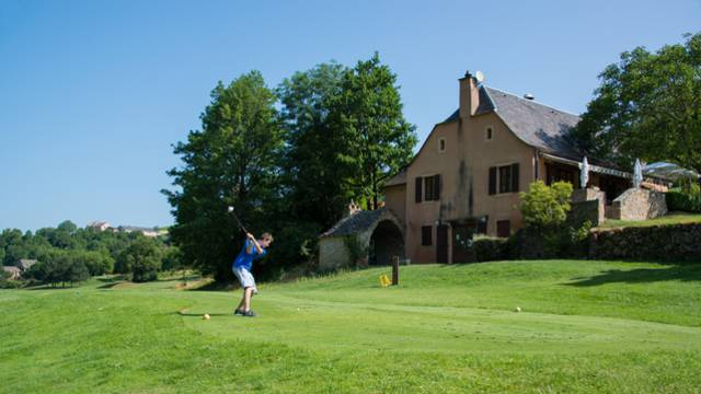 golfeurs au golf de la Canourgue