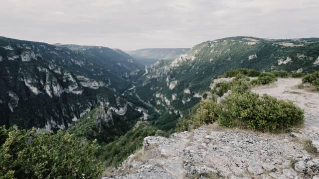 Vue du Point Sublime dans les Gorges du Tarn.