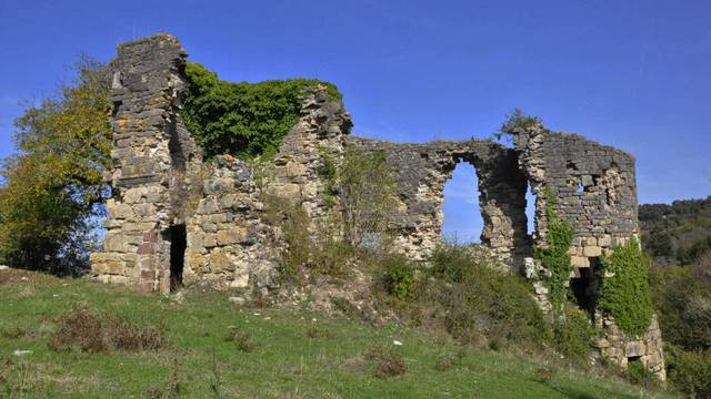 The ruins of the Montferrand castle