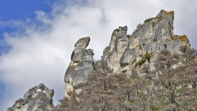 Les falaises des Gorges du Tarn.