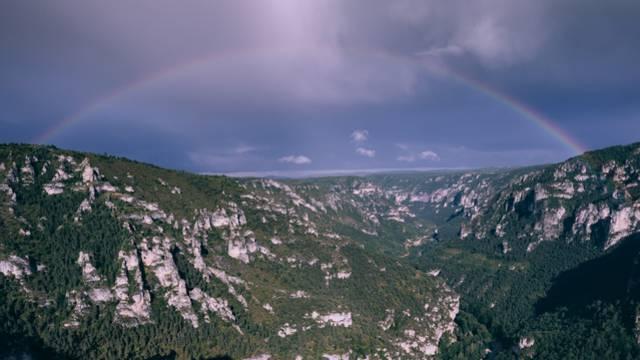 Paysage arc-en-ciel Gorges du Tarn