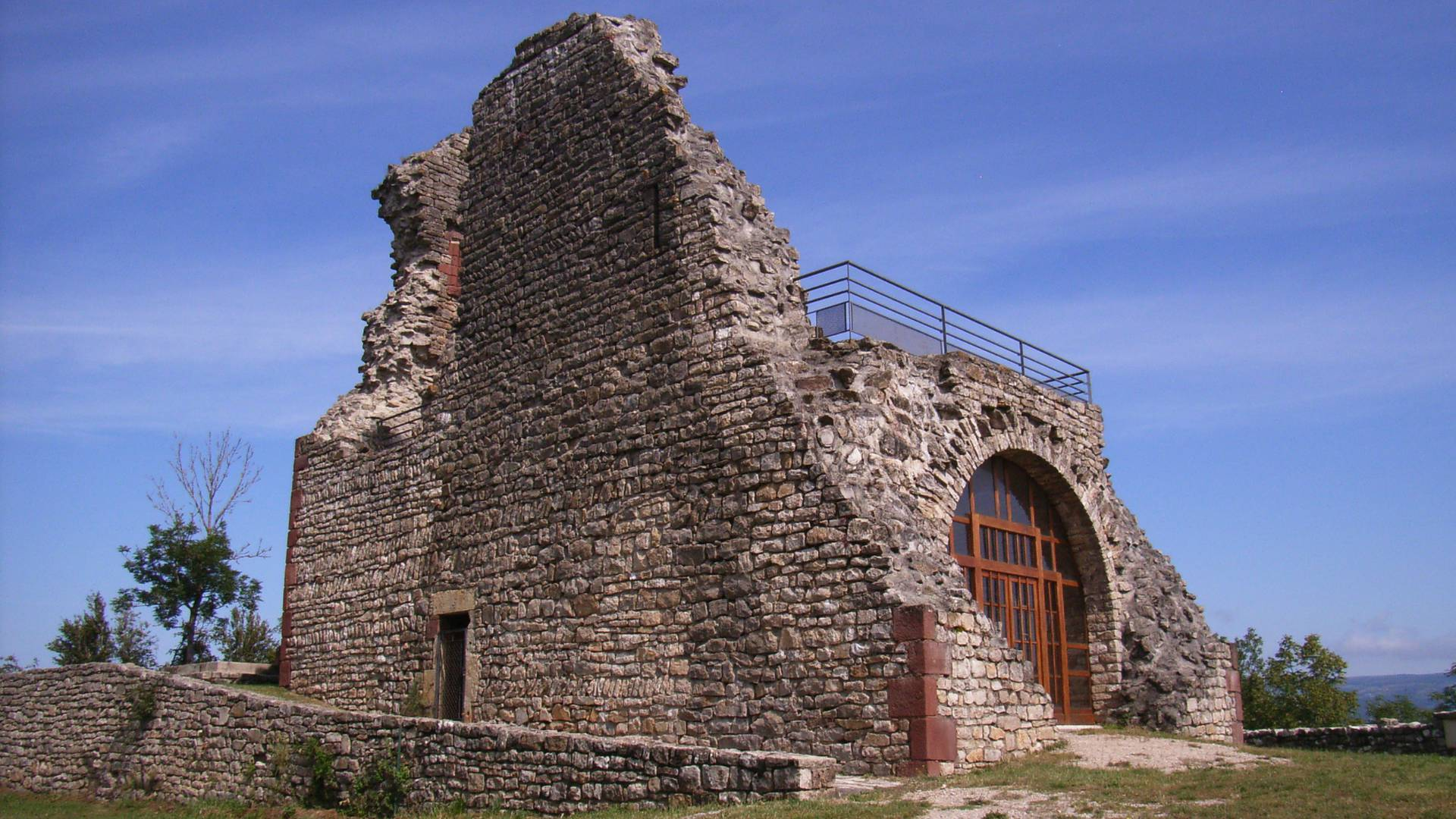 Ruins of Canilhac's castle