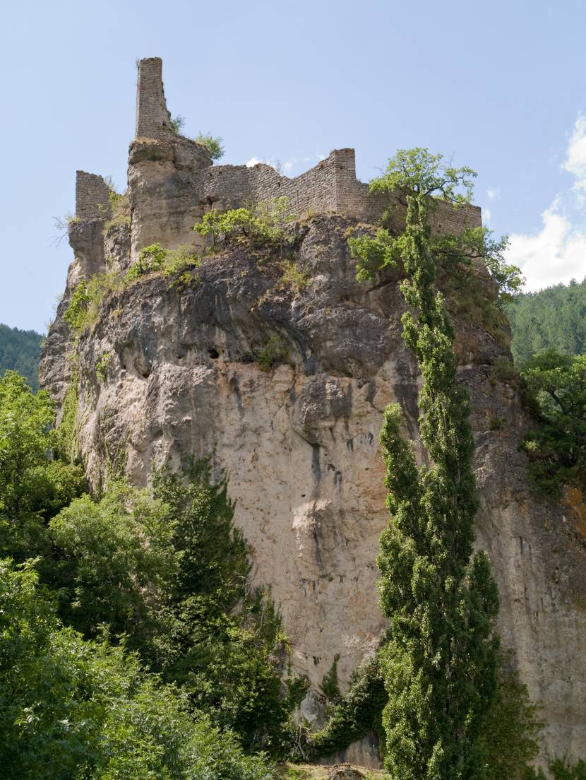Castelbouc castle in the Tarn river canyon