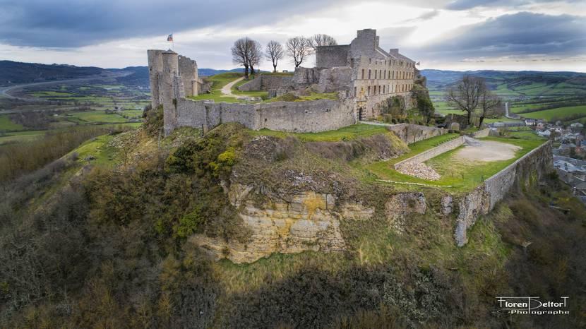 Sévérac Castle on its hillock.