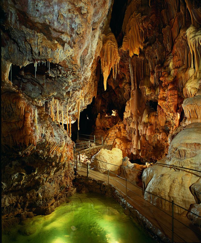 Inside Dargilan's cave