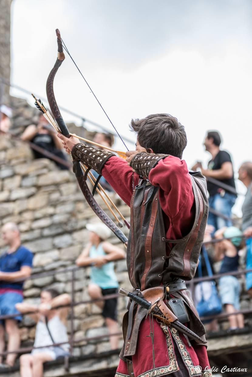 Archer au château de Peyrelade.