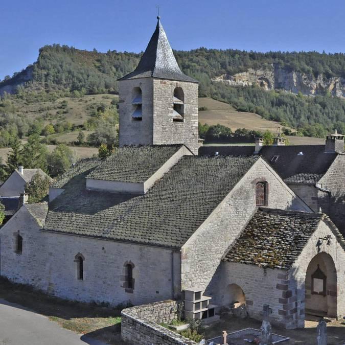 église Canilhac, vallée du lot, lozère