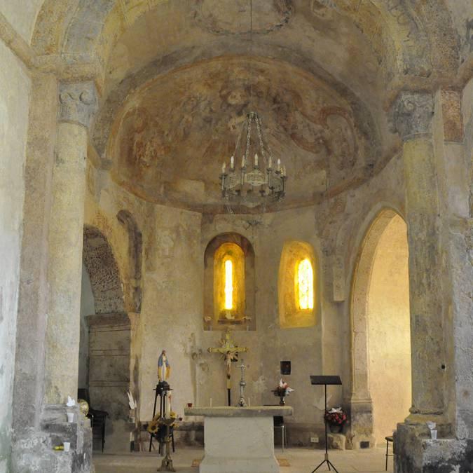 Inside Saint-Martin church in La Capelle